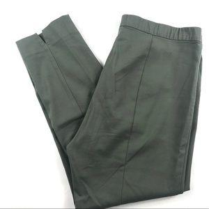 J. Jill Essential Slim Ankle Pants Green Sz 14